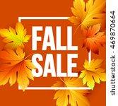autumn seasonal banner design.... | Shutterstock .eps vector #469870664