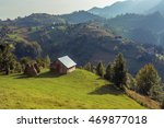 mountain landscape in romania... | Shutterstock . vector #469877018