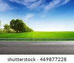 suburb asphalt road and green... | Shutterstock . vector #469877228