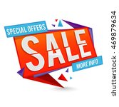 special offer sale paper tag ... | Shutterstock .eps vector #469879634