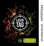 laser tag with target | Shutterstock .eps vector #469895666