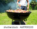 detail of meat on a barbeque... | Shutterstock . vector #469900103