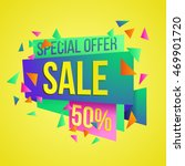 sale discounts and special... | Shutterstock .eps vector #469901720