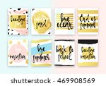 set hand drawn cards design.... | Shutterstock .eps vector #469908569