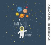 happy birthday greeting card.... | Shutterstock .eps vector #469909490