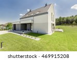simple modern house exterior... | Shutterstock . vector #469915208