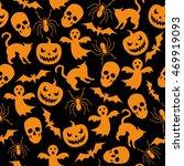 halloween seamless background...