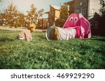 mother with kids have fun on... | Shutterstock . vector #469929290