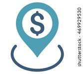 dollar location icon. glyph... | Shutterstock . vector #469929530