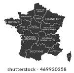 france map labelled black | Shutterstock .eps vector #469930358