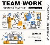 modern team work pack. thin... | Shutterstock .eps vector #469933430