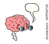 freehand drawn speech bubble... | Shutterstock . vector #469936718