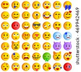 set of emoticons. set of emoji. ... | Shutterstock .eps vector #469942469