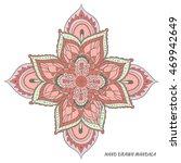 mandala vector. hand drawn... | Shutterstock .eps vector #469942649