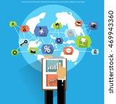 vector business information ... | Shutterstock .eps vector #469943360