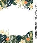 bright hawaiian design with... | Shutterstock . vector #469947644