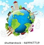 pollution factories around a... | Shutterstock .eps vector #469947719