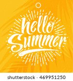 hello summer  creative graphic... | Shutterstock .eps vector #469951250