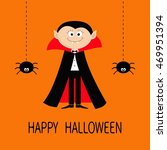 count dracula wearing black and ... | Shutterstock .eps vector #469951394