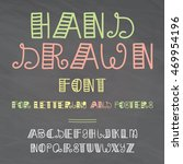 hand drawn vector font.... | Shutterstock .eps vector #469954196