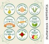 flat food design logo concept... | Shutterstock .eps vector #469954916