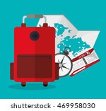 baggage compass ticket map time ... | Shutterstock .eps vector #469958030