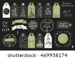 set of merry christmas and... | Shutterstock .eps vector #469958174