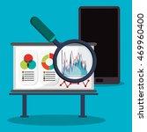 spreadsheet lupe smartphone... | Shutterstock .eps vector #469960400