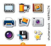 icon sticker series 7  ...   Shutterstock .eps vector #46996174