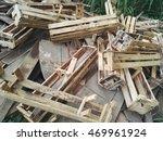 Old Wood Pile Garbage Heap ...