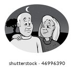 cartoon vector gray scale... | Shutterstock .eps vector #46996390