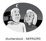 cartoon vector gray scale... | Shutterstock .eps vector #46996390