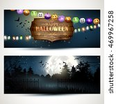 vector set of two halloween... | Shutterstock .eps vector #469967258
