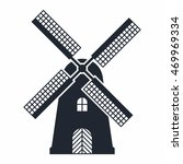 windmill icon | Shutterstock .eps vector #469969334