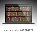 digital library   books inside... | Shutterstock .eps vector #469974929