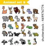 set of cute cartoon wild animals | Shutterstock .eps vector #469976774