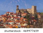 vernet les bains in cady valley ... | Shutterstock . vector #469977659