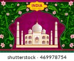 floral background with taj... | Shutterstock .eps vector #469978754