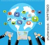 vector businessman using modern ... | Shutterstock .eps vector #469978820