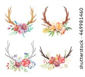 set of hand painted watercolor... | Shutterstock . vector #469981460