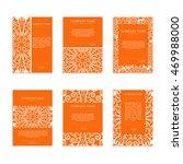set of business cards. vintage... | Shutterstock .eps vector #469988000