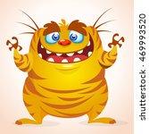 happy cartoon monster.... | Shutterstock .eps vector #469993520