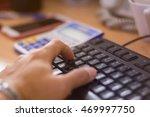 selective focus hands on... | Shutterstock . vector #469997750