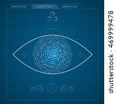 eye symbol in electronical... | Shutterstock .eps vector #469999478