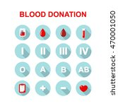 blood donation icons. vector... | Shutterstock .eps vector #470001050