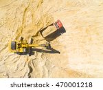 aerial view of a excavator and... | Shutterstock . vector #470001218