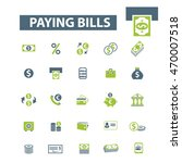 paying bills icons | Shutterstock .eps vector #470007518