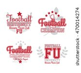 american football badges set.... | Shutterstock .eps vector #470014274