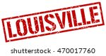 louisville stamp. red square... | Shutterstock .eps vector #470017760