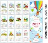 calendar for 2017 with set of...   Shutterstock .eps vector #470021780